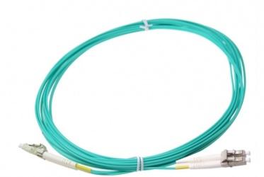 SBE Tech Cable Fibra Óptica Multimodo OM4 LC Macho - LC Macho, 1 Metro, Aqua