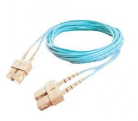 SBE Tech Cable Fibra Óptica OM4 Dúplex SC Macho - SC Macho, 1 Metro, Aqua