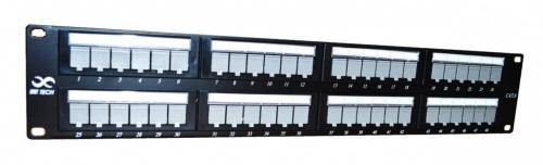 SBE Tech Panel de Parcheo Cat6 de 48 Puertos RJ-45, Negro
