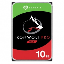 """Disco Duro para NAS Seagate IronWolf Pro 3.5"""", 10TB, SATA III, 6Gbit/s, 7200RPM, 256MB Caché - para NAS de 1 a 24 Bahías"""