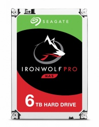 Disco Duro Interno Seagate IronWolf Pro 3.5'', 6TB, SATA III, 6 Gbit/s, 7200 RPM, 256MB Cache - para NAS de 1 a 16 Bahias
