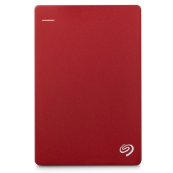 Disco Duro Externo Seagate Backup Plus Slim Portátil 2.5'', 1TB, USB 3.0, Rojo - para Mac/PC