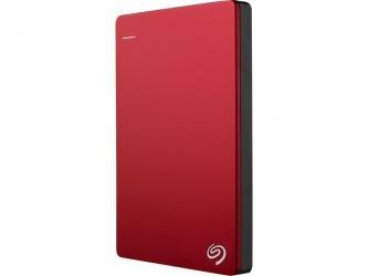 Disco Duro Externo Seagate Backup Plus Slim Portátil 3.5'', 2TB, USB 3.0, Rojo - para Mac/PC