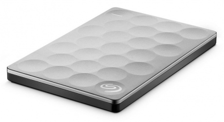 "Disco Duro Externo Segate Backup Plus Ultra Slim 2.5"", 1TB, USB 3.0, Plata - para Mac/PC"
