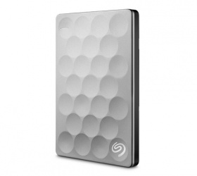 Disco Duro Externo Seagate Backup Plus Ultra Slim 2.5'', 2TB, USB 3.0, Platino - para Mac/PC
