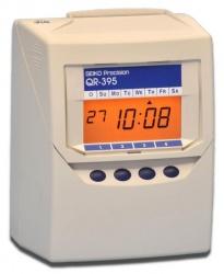 Seiko Checador Electrónico QR-395, Digital, Blanco