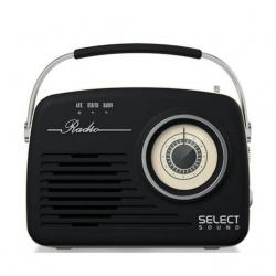 Select Sound Bocina Portátil BT1010, Bluetooth, Inalámbrico, 2W RMS, USB, Negro