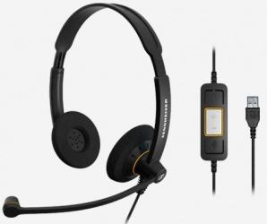 Sennheiser Audífonos SC 60 USB ML, Alámbrico, 2.1 Metros, USB, Negro