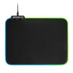 Mousepad Sharkoon 1337 RGB V2 360, 27 x 36cm, Grosor 3mm, Negro