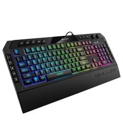 Teclado Gamer Sharkoon Skiller SGK5 RGB, Alámbrico, Negro (Inglés)