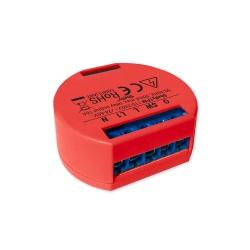 Shelly Módulo Relevador 1PM, Interruptor WiFi Cloud, Rojo, Compatible con Google/Alexa