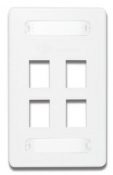 Siemon Placa de Pared Vertical MAX de 4 Puertos, Blanco