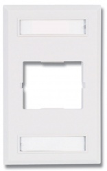 Siemon Placa de Pared CT de 1 Puerto, Blanco