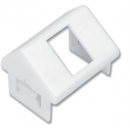 Siemon Placa de Pared Angulada de 1 Puerto, Blanco