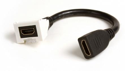 Siemon Adaptador HDMI Hembra - HDMI Hembra, 20cm, Negro, para Placa de Pared