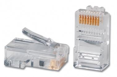 Siemon Conector RJ-45 de 8 Posiciones y 8 Contactos Cat5e, Transparente