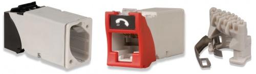 Siemon Conector RJ-45 para Cable UTP Cat6, Rojo
