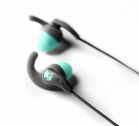 Skullcandy Audífonos Intrauriculares Deportivos Set In Ear, Alámbrico, 3.5mm, Gris/Verde
