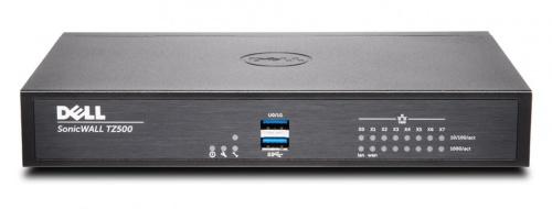 Router SonicWall con Firewall TZ500, 1400 Mbit/s, 8x RJ-45, 2x USB 2.0