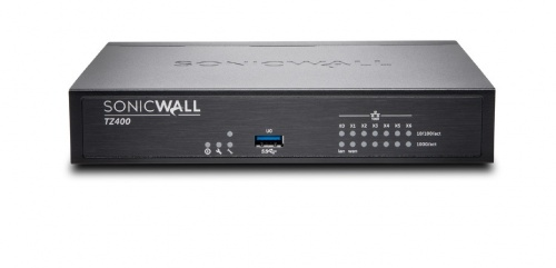 Router SonicWall con Firewall TZ400 Secure Upgrade Plus Advanced Edition, 1300 Mbit/s, 7x RJ-45, 2x USB 3.0