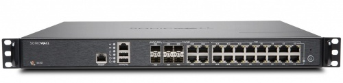 Router SonicWall con Firewall NSA 4650 TotalSecure - Advanced Edition, 6000 Mbit/s, 16x RJ-45, 4x SFP, 2x SFP+