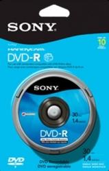 Sony Discos Virgenes para DVD, DVD-R, 10 Discos (10DMR30)