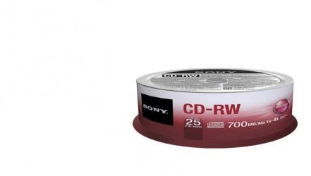 Sony Torre de Discos Virgenes para CD, CD-RW, 4x, 25 Piezas