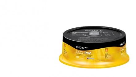 Sony Torre de Discos Virgenes para DVD, DVD-RW, 25 Discos (25DMW47)
