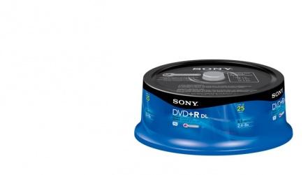 Sony Torre de Discos Virgenes de Doble Capa para DVD, DVD+R, 8.5GB, 25 Discos