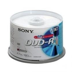 Sony Torre de Discos Virgenes para DVD, DVD-R, 16x, 50 Discos (50DMR47SB)