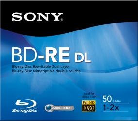 Sony Disco Vírgen para Blu-Ray, BD-RE, 2x, 50GB, 1 Disco