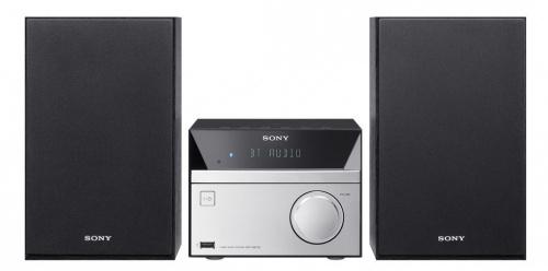 Sony CMT-SBT20, Micro Componente, 12W RMS, Bluetooth, USB 2.0, Negro/Plata