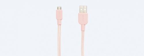 Sony Cable USB Tipo A Macho - Micro USB Macho, 1.5 Metros, Rosa