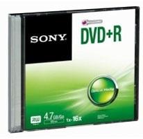 Sony Disco Virgen para DVD, DVD+R, 16x, 1 Disco (DPR47SS)