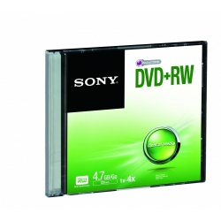 Sony Disco Virgen para DVD, DVD+RW, 4.7GB, 1 Disco