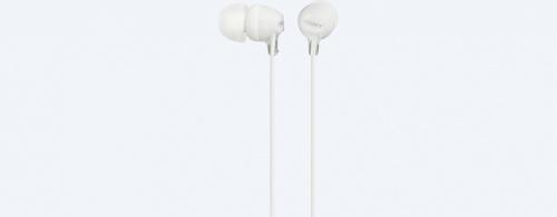 Sony Audífonos Intrauriculares con Micrófono MDR-EX14AP, Alámbrico, 1.2 Metros, 3.5mm, Blanco
