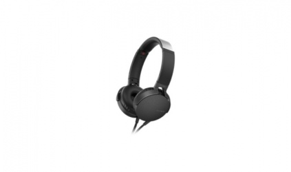Sony Audífonos con Microfono Extra Bass XB550AP, Alámbrico, 1.2 Metros, Negro