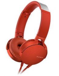 Sony Audífonos con Microfono Extra Bass XB550AP, Alámbrico, 1.2 Metros, Rojo