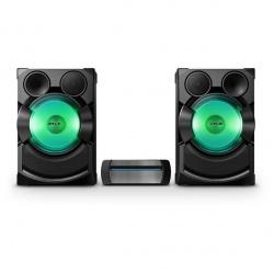 Sony SHAKE-X7D Mini Componente, Bluetooth, 2400W RMS, USB 2.0, Karaoke, Negro/Verde
