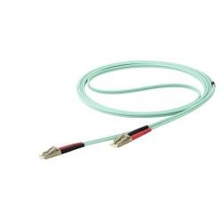 StarTech.com Cable Fibra Óptica Multimodo OM4 LC Macho - LC Macho, 10 Metros, Aqua