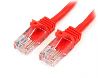 StarTech.com Cable Patch Cat5e UTP sin Enganches RJ-45 Macho - RJ-45 Macho, 1 Metro, Rojo