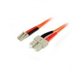 StarTech.com Cable Fibra Óptica Multimodo OM2 LC Macho - SC Macho, 2 Metros, Naranja