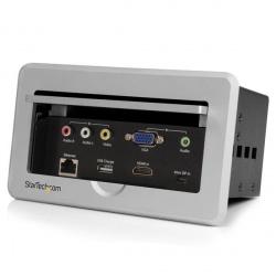 StarTech.com Caja de Conectividad para Mesa de Juntas, Módulo de Conexiones HDMI VGA y MiniDisplayPort