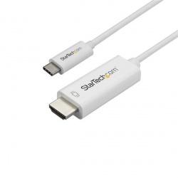 StarTech.com Cable USB-C Macho - HDMI 4K Macho, 1 Metro, Blanco