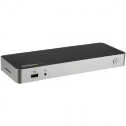 StarTech.com Docking Station para Laptops USB-C 4x USB C, Negro/Plata
