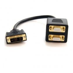 StarTech.com Adaptador DVI Macho - 2x VGA Hembra, 30cm, Negro