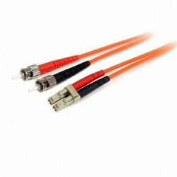StarTech.com Cable Fibra Óptica Multimodo Dúplex LC Macho - ST Macho, 2 Metros, Naranja