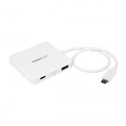 StarTech.com Hub USB C 3.0 Macho - 3x USB A/1x USB C Hembra,  5000 Mbit/s, Blanco
