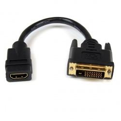 StarTech.com Adaptador HDMI 19p Macho - DVI-D 25p Hembra, Negro