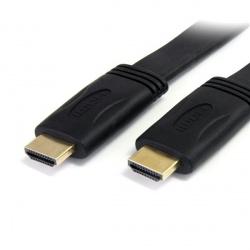 StarTech.com Cable Plano de Alta Velocidad con Ethernet HDMI Macho - HDMI Macho, 7.6 Metros, Negro